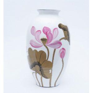 Lọ hoa Bát Tràng họa tiết hoa sen