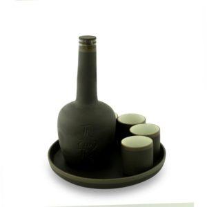 Bộ rượu nậm chai màu đen